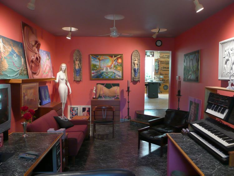 Thomas Haney's Electronic room view towards studio