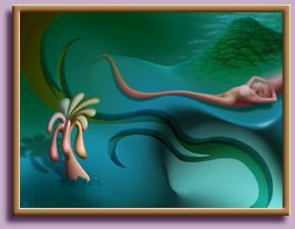 Thomas Haney Digital Painting Swish of a Woman in Surreal World, Artist Thomas Haney's fine art prints including limited edition lithograph.