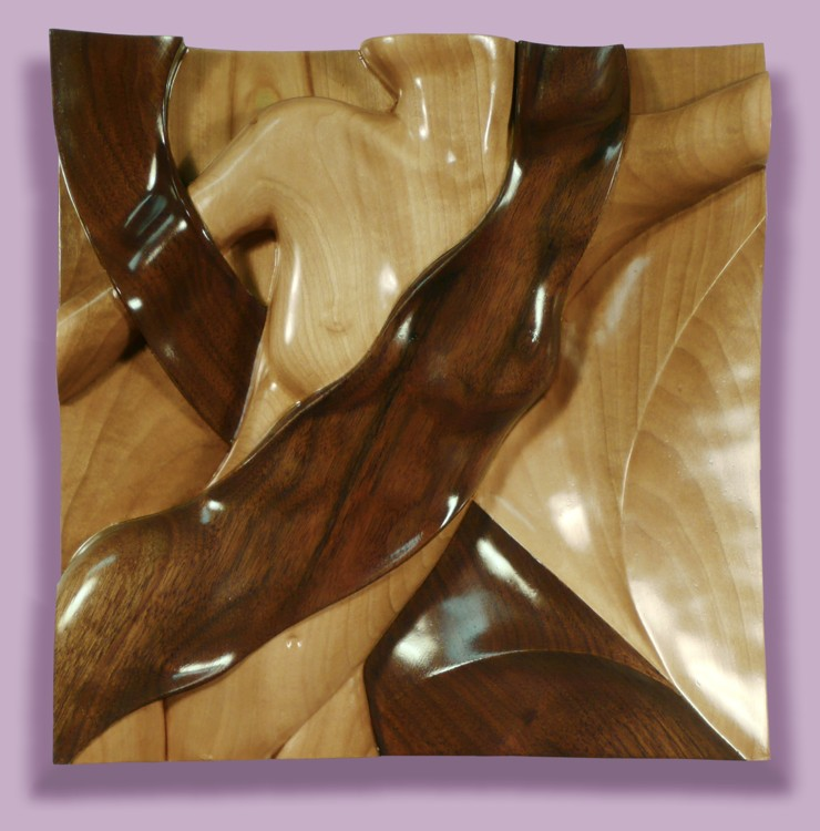 Thomas Haney's Intarsia Torso Woven Motion sculpture female form