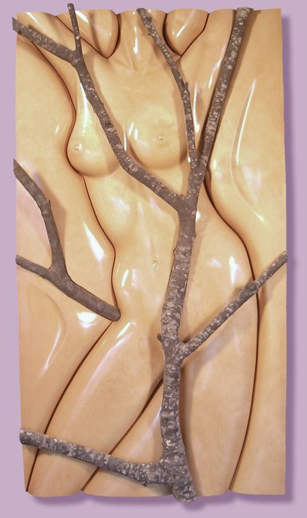 Thomas Haney's Pine Torso Relief w/
