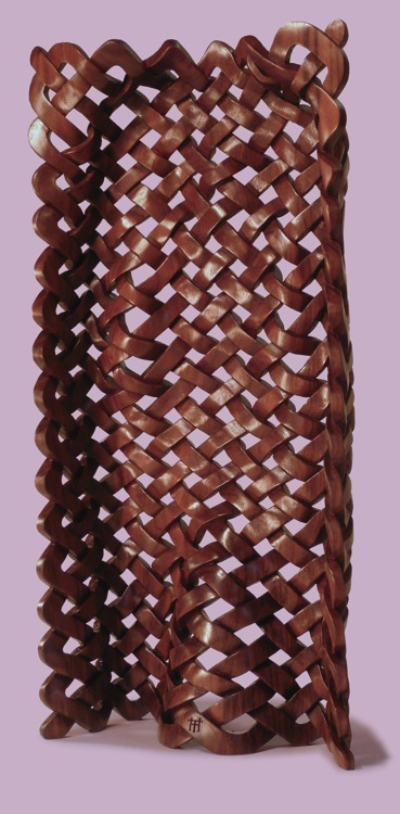 Back of Thomas Haney's Woven Woman wooden